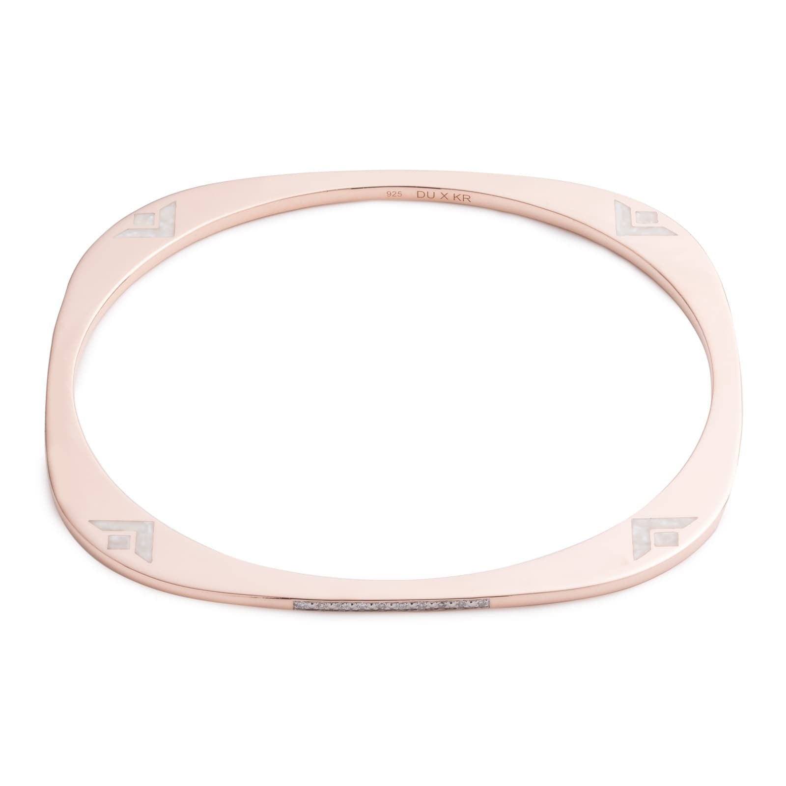 Rounded Edge Diamond Slip Bangle