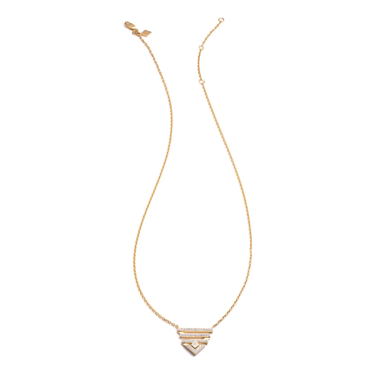 Triangle Diamond Bar Drop Pendant