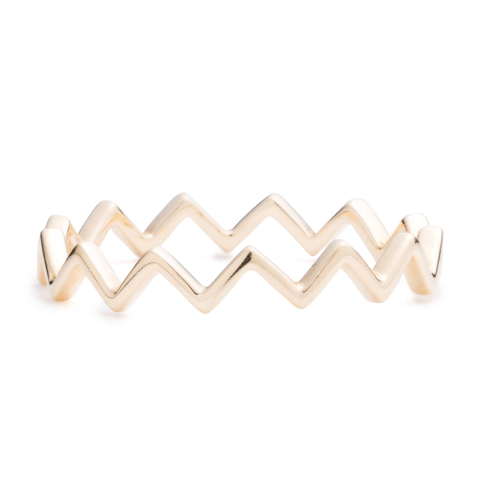 Zig Zag Diamond Stacker Ring
