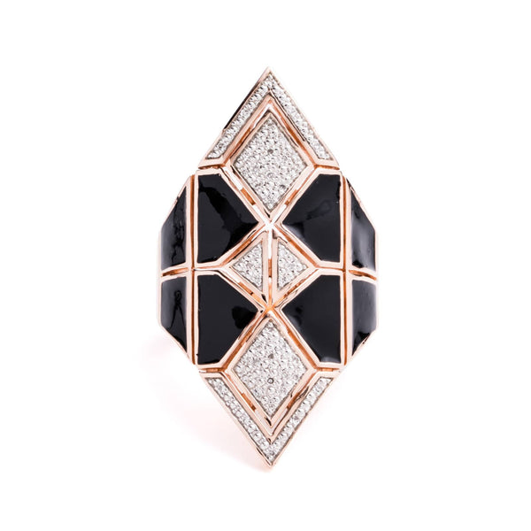 Diamond & Black Cocktail Ring