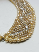 Vintage 1950's Glentex Satin Faux Pearl Beaded Sequin Collar