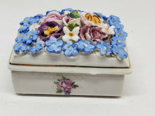 Vintage Elfinware Germany Porcelain Blue Flower Trinket Box