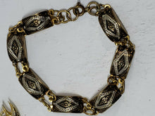 Vintage Spanish Damascene Neptune Lobster Brooch And Bracelet Set