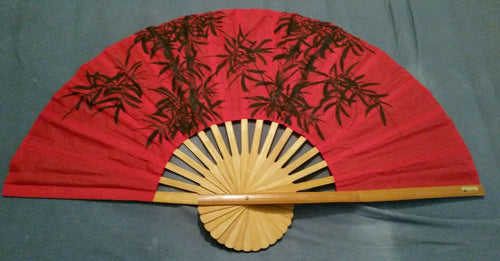Red Bamboo Giant Fan Made in Thailand