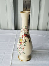Vintage Lenox Red Bird And Flowers Gold Plated Edge Bud Vase
