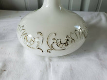 Antique Victorian White Milk Glass Vanity Perfume Bottle Hand Painted Flowers #1