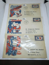Vintage Set Of 23 Over-run Countries & WWII First Day Issue Stamps