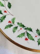 Lenox Ivory Holiday Mistletoe Dinner Plate