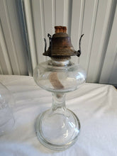 Vintage Kerosene Oil Lamp With Banner Burner