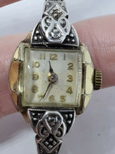 Vintage 10k Rolled Gold Plate Diamond Accent Swiss Movement Watch