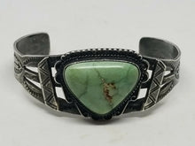 Vintage Navajo Fred Harvey Era Sterling Native American Turquoise Cuff Bracelet