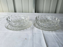 Vintage Fostoria American Clear Fruit Bowls And Saucers