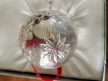 Vintage Lenox Deep Cut Crystal First Annual Christmas Ornament In Original Box