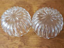 Vintage Pair Of Cut Crystal Starburst Scalloped Edge Candy Dishes
