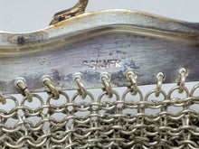 Antique Victorian Framed German Silver Chainmaille Mesh Purse
