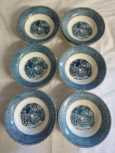 "Vintage Set of 12 Currier & Ives ""The Old Farm Gate"" By Royal Soup Bowls"