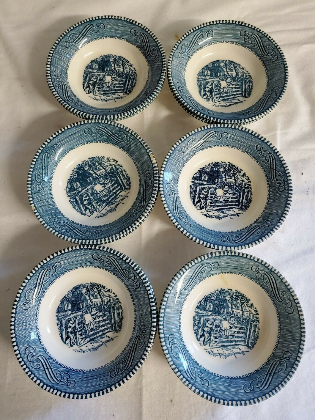 Vintage Set of 12 Currier & Ives