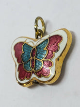 Vintage Gold Plated Cloisonne Colorful Butterfly Charm/Pendant