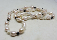 14k Yellow Gold Handmade Cultured Freshwater Pearl Strand Necklace 17""