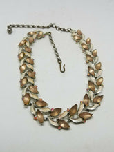 Vintage BSK Lucite Flower Leaves Necklace