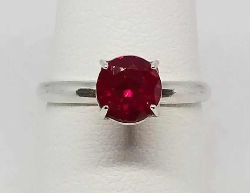 0.10ct Pigeon Blood Ruby Handmade Sterling Silver Ring