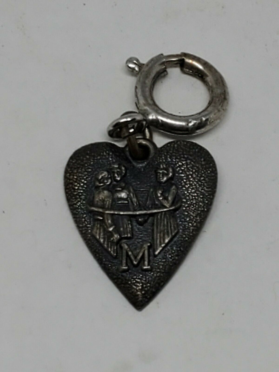 Vintage Morgans Sterling Silver Heart Charm