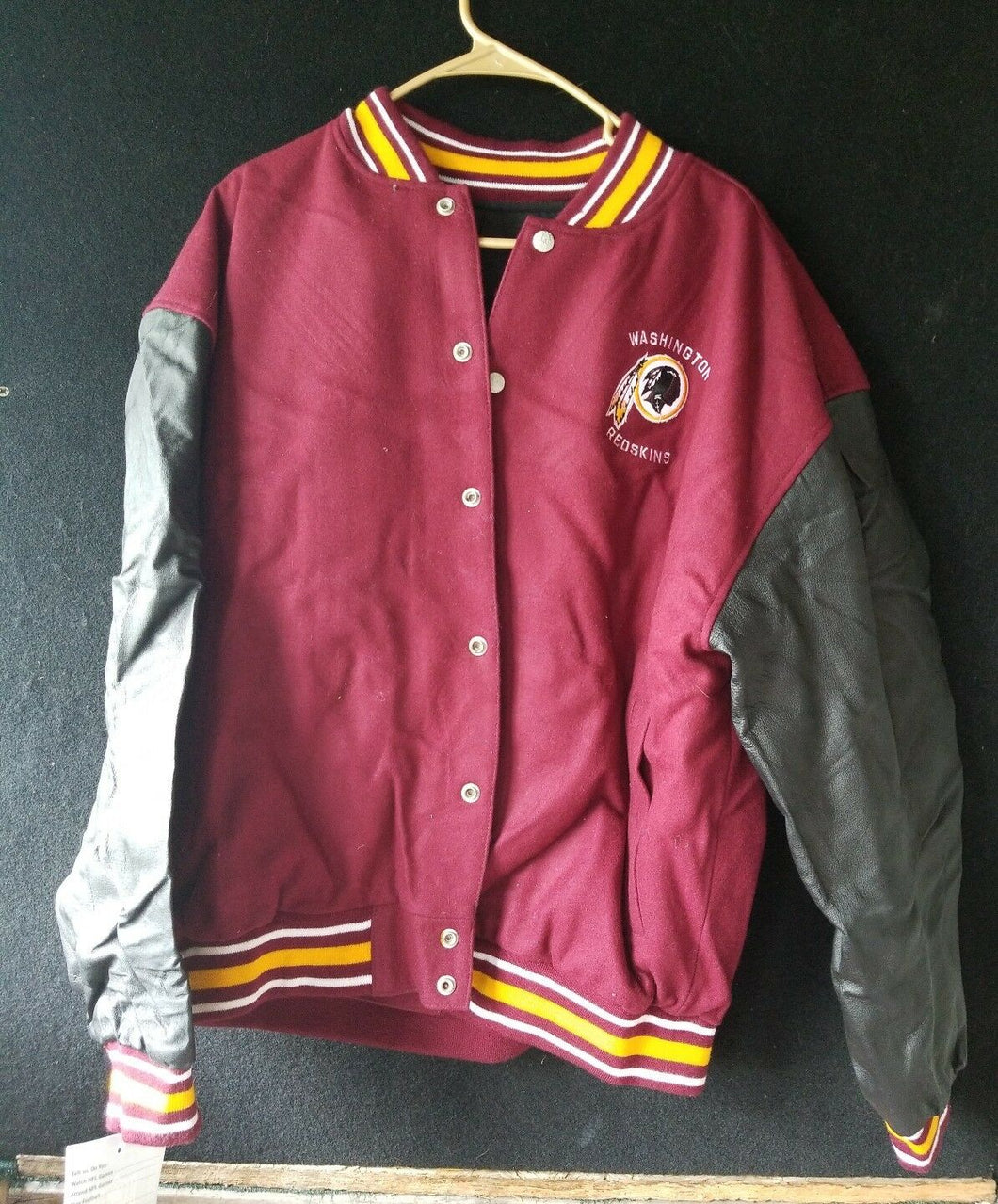 Official NFL Football Merchandise Redskins Genuine Leather Jacket NWT