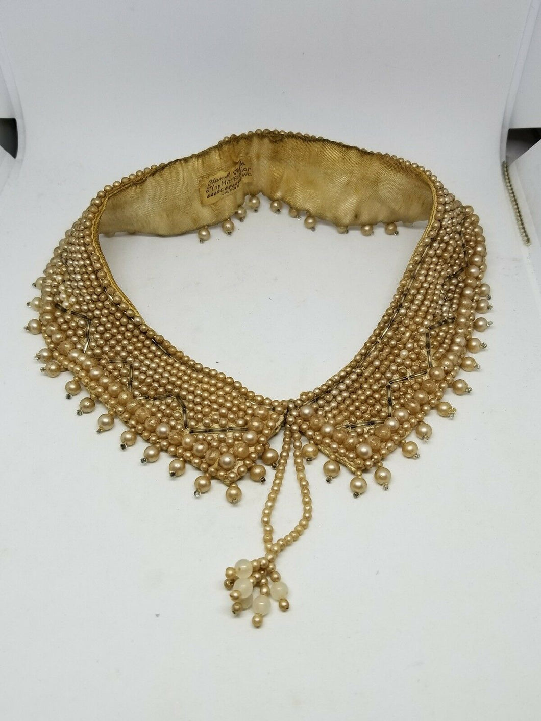 Vintage Handmade Top Hits Fashion Baar and Beards Beaded Collar Necklace