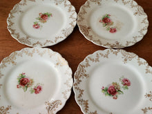 4pc Sterling China Vintage Saucer Set Roses