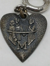 "Vintage Morgans Sterling Silver Heart Charm ""M"""