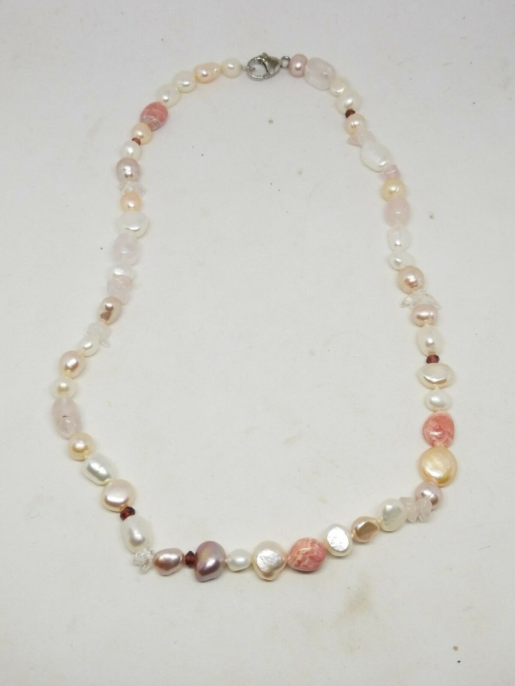 Sterling Silver Honora Baroque Pearl and Semi-precious Stone Necklace 18