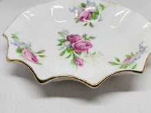 Vintage Rosina Bone China Scalloped Edge Rose Dish Made In England 5""