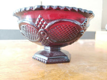 Vintage 1876 Avon Cape Cod Collection Ruby Red Footed Fruit Bowl