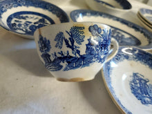 Vintage Lot Blue Willow Dish Set Johnson Bros Willow Ware Societe Ceramique