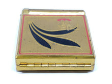 Vintage Brass Yardley New York Enameled Figural Ladies Makeup Compact