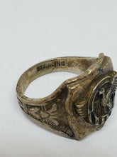 Vintage Sterling Silver WWII Ruptured Duck Men's Military Ring Size 8