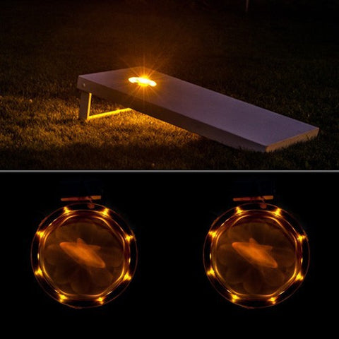 Amber Cornhole Board Lights