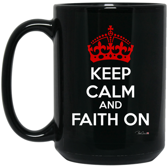 Faith On - Accessories Black Mug - Dark