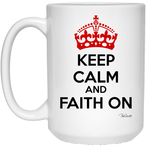 Faith On - Accessories White Mug - Light