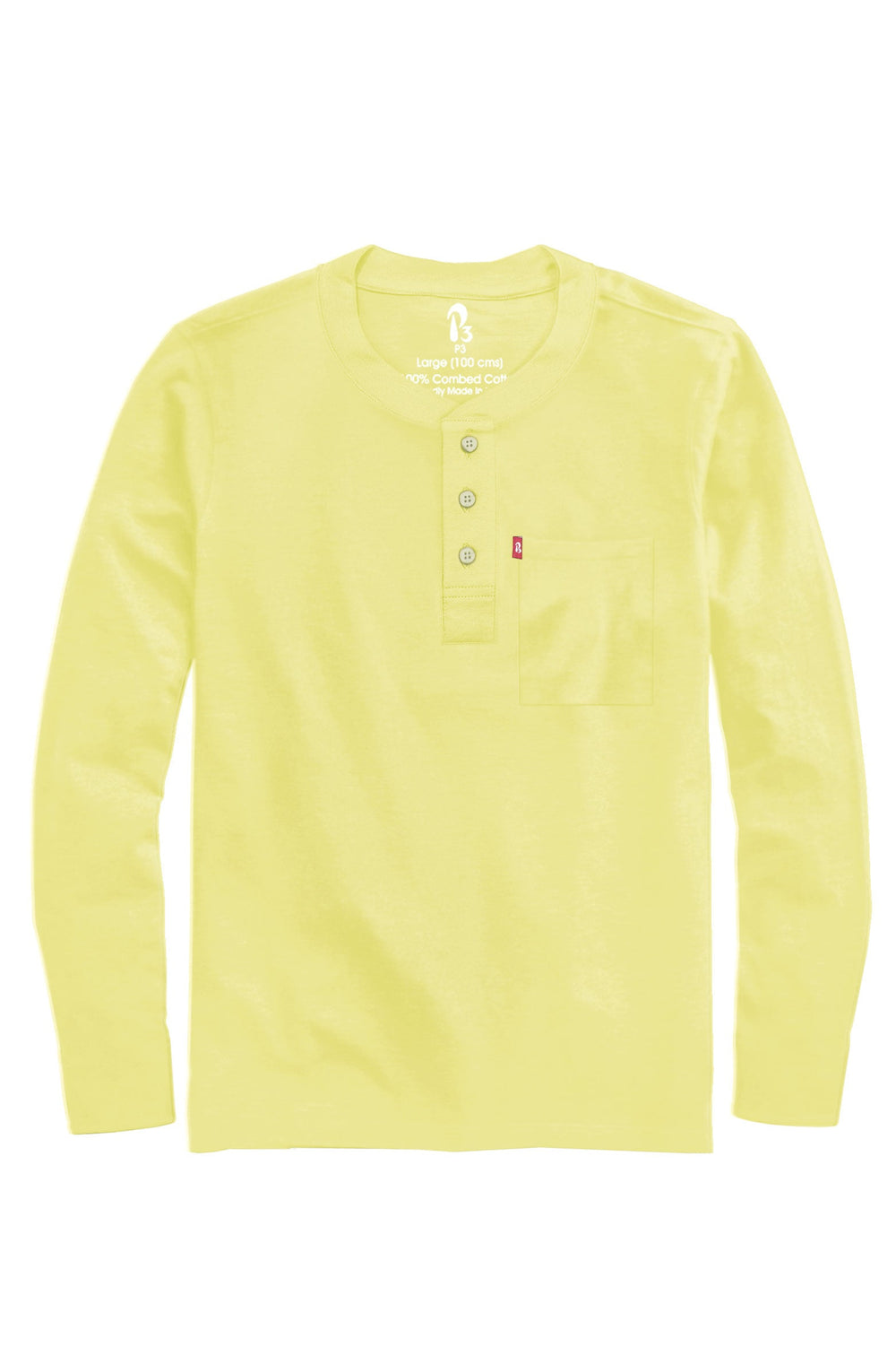Ace Full Sleeved Ribbed Henley (MRP inclusive of all taxes)