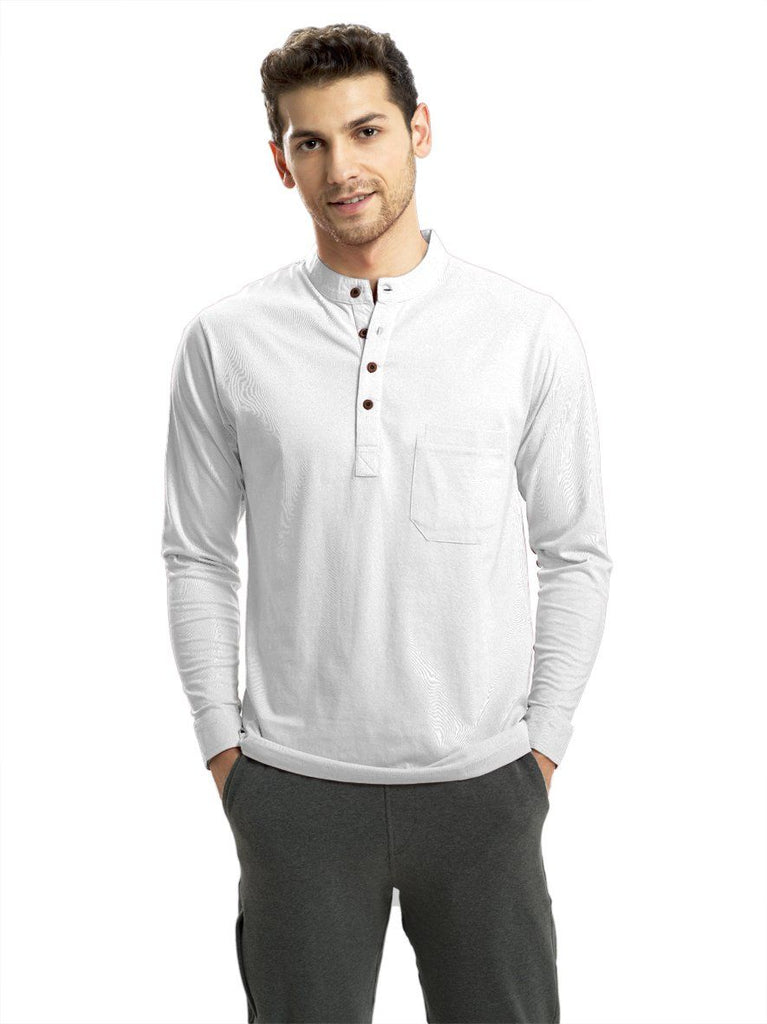 Cloud White Full Sleeved Mandarin Henley (MRP inclusive of all taxes) Mandarins P3