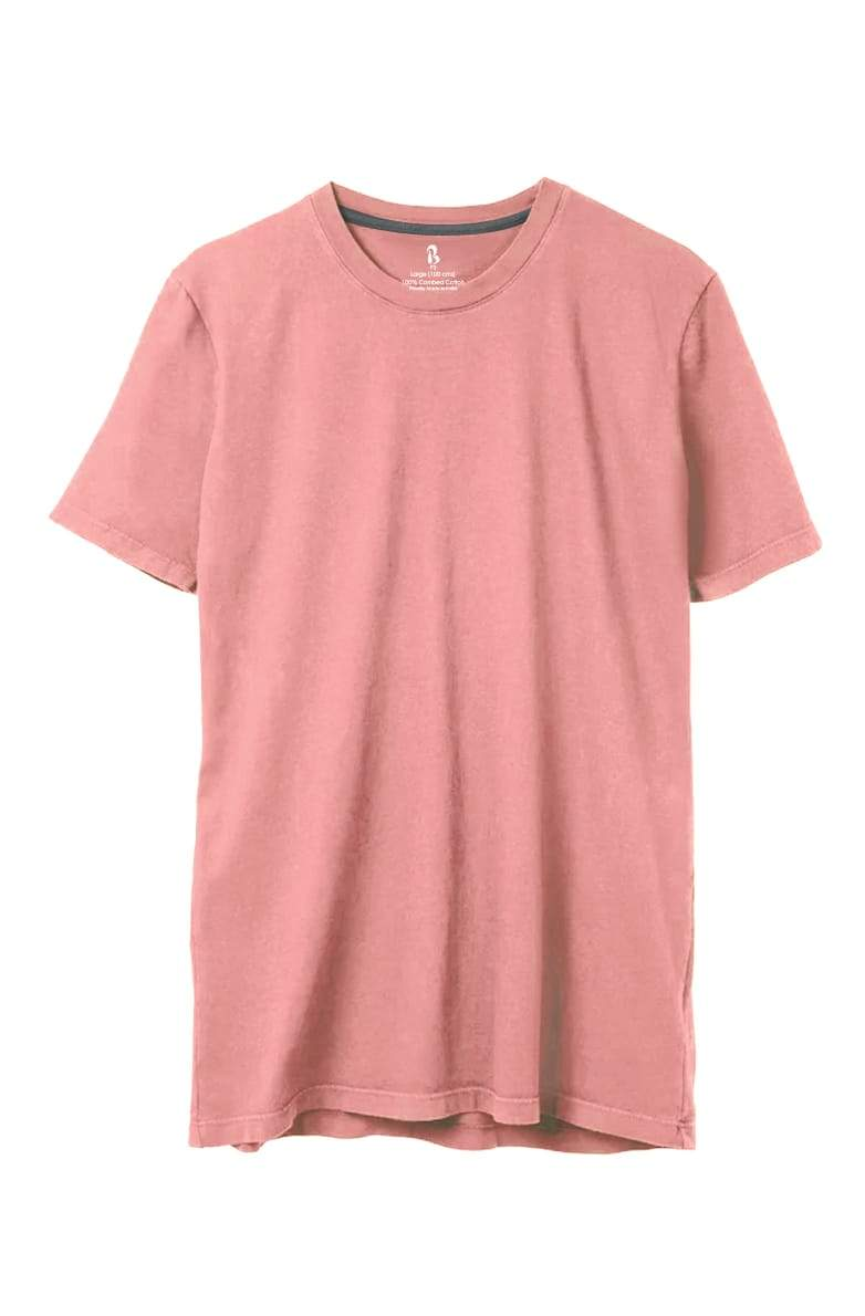 Coral Pink Crew Neck Tee (MRP inclusive of all taxes) Crew Neck P3 Small / 90 cms / Ideal for Shirt 38""