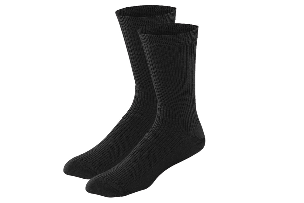 Cotton Stretch Socks (3 pairs) Socks P3 28 cms (Free Size) All Black