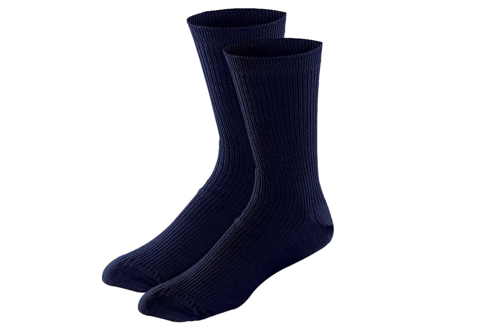 Cotton Stretch Socks (3 pairs) Socks P3 28 cms (Free Size) All Navy