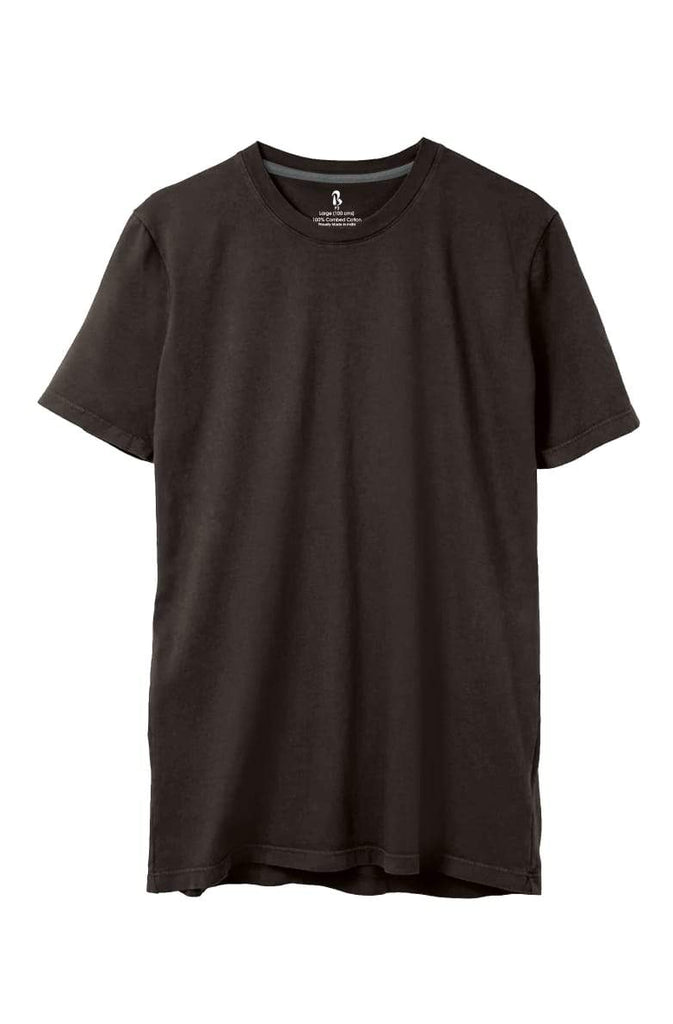 Dark Chocolate Brown Crew Neck Tee (MRP inclusive of all taxes) Crew Neck P3 Small / 90 cms/ Ideal for Shirt 38""