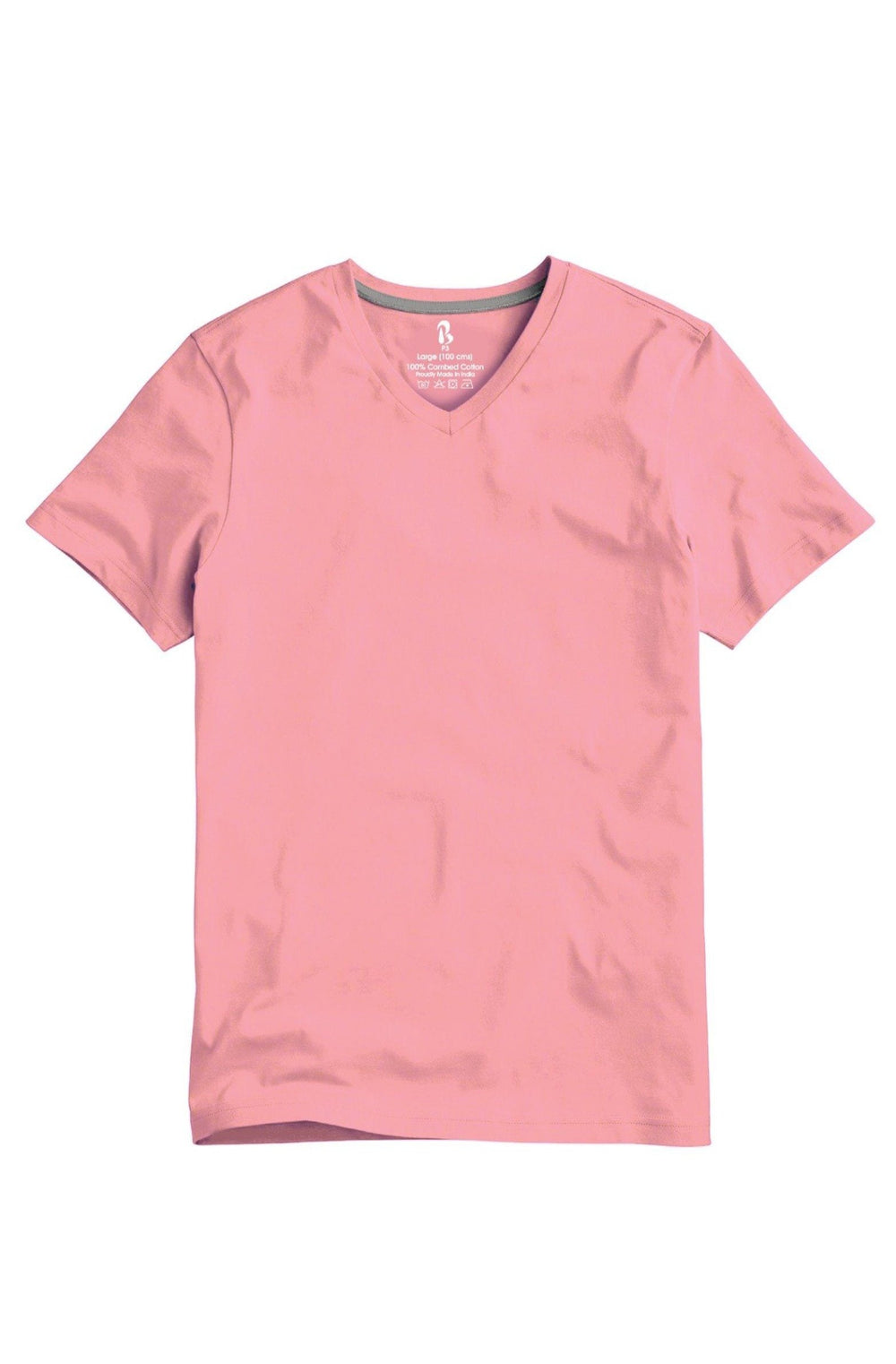 Floss Pink V-Neck Tee (MRP inclusive of all taxes) V Neck T-Shirt P3