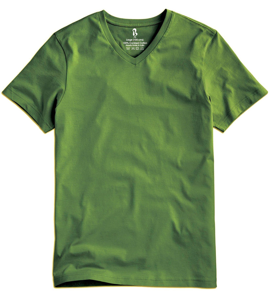 Forest Green V-Neck Tee V Neck T-Shirt P3 Small (90 cms)