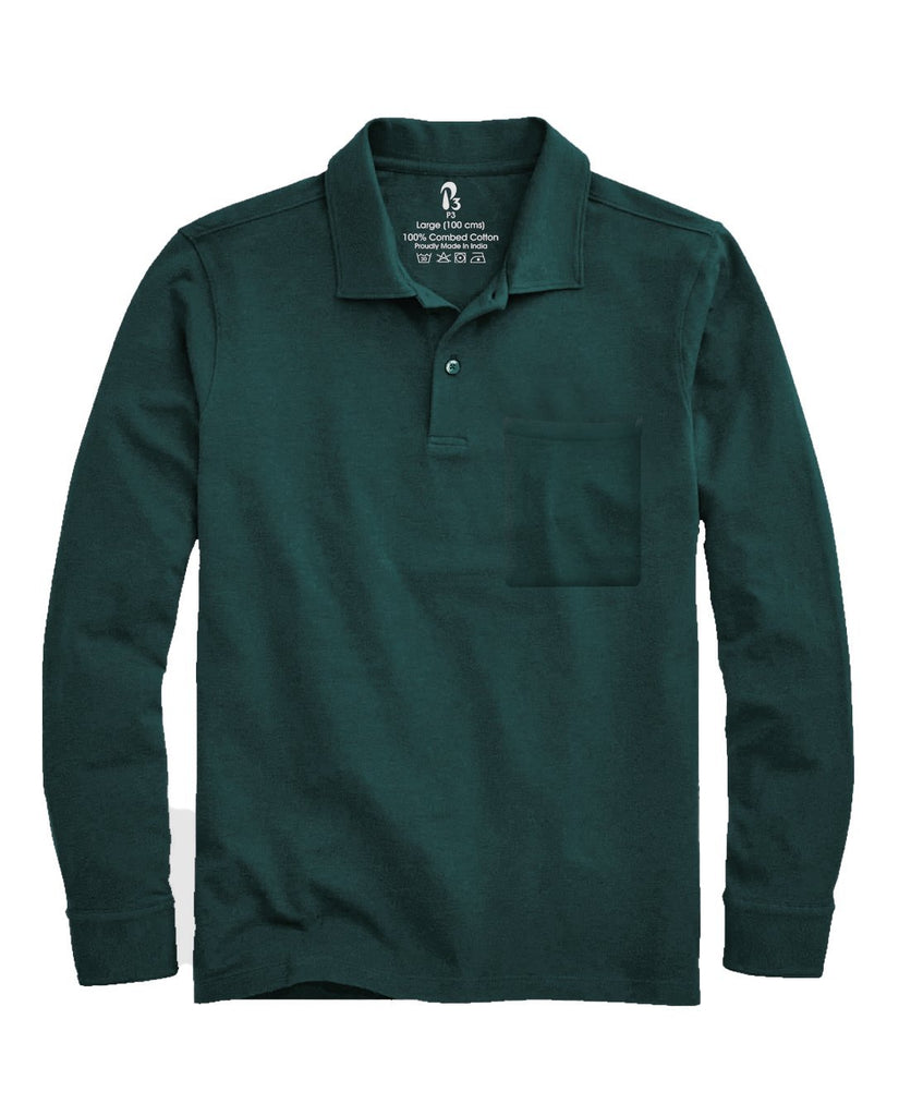 Hunter Green Marquee Cuffed Polo (MRP inclusive of all taxes) Polos P3