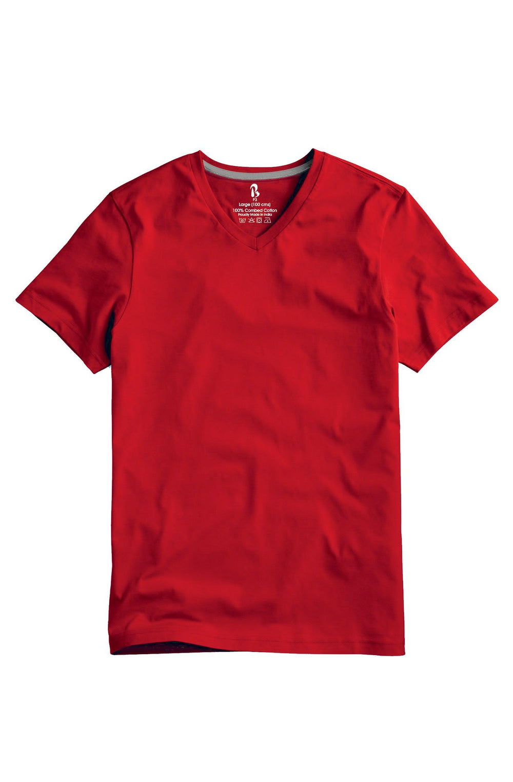 Jester Red V-Neck Tee (MRP inclusive of all taxes) V Neck T-Shirt P3