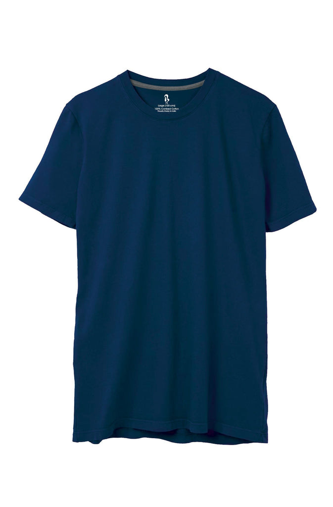 Navy Blue Crew Neck Tee (MRP inclusive of all taxes) Crew Neck P3 Small / 90 cms / Ideal for Shirt 38""